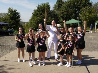 Troupe with Marc Grayston, one of Basildon's Torchbearers. Sept. 2012 | Ken Porter