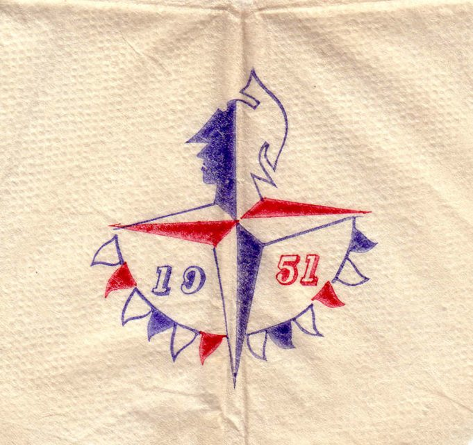 Festival of Britain Souviner Napkin | Colin Humphrey