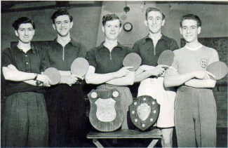 Table Tennis in Laindon 1950/55