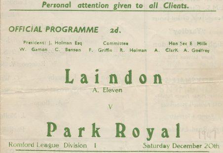The Laindon Football Club 1947