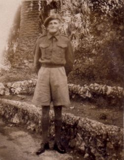 My Dad, George, in the botanical gardens on Gibraltar 1943. | Nina Humphrey.
