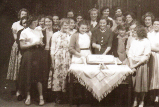 Girl Covenanter's at the Manor Mission on Manor Road