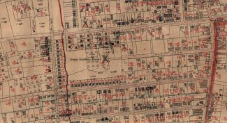 Gt Gubbins Farm shown on 1939 map that has been overlaid with housing developments of the late 1940s | Ordinance Survey Office