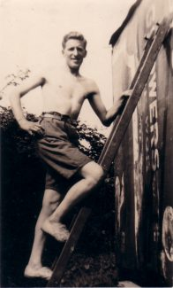 My Dad, George, building the hay shed. | Nina Humphrey