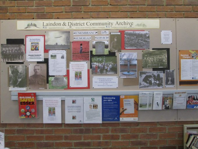 Wall display in Laindon Library by Sue Ranford | Colin Humphrey