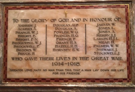 St Nicholas Church, Laindon War Memorial WW1