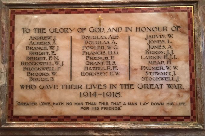 St Nicholas Church WW1 War Memorial