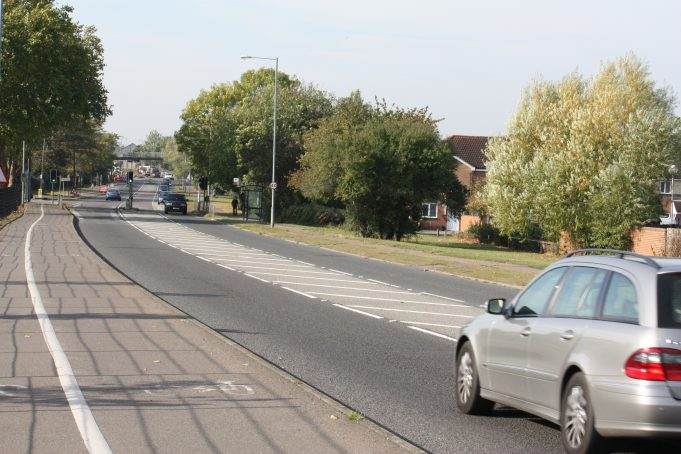 Heading towards Basildon Drive.  There were a lot of road works on that corner.   Nina Humphrey