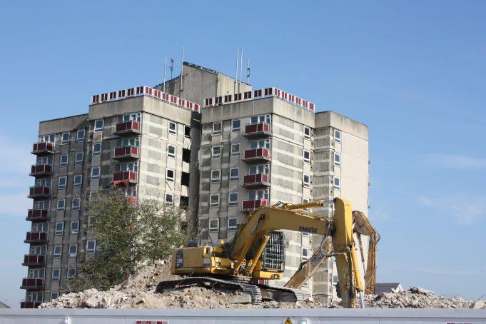 Royal Court in the process of demolition.   Nina Humphrey