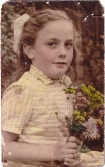 Me aged 7 at Langdon Hills Primary School.  The photo was in black and white but was coloured in. | Andrea Ash