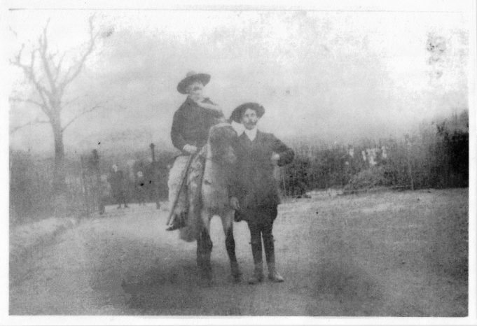 Isaac Levy on the horse.  Unknown event and location.