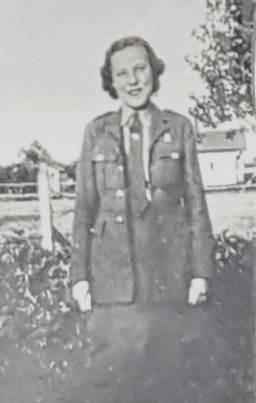 Joan Bowyer - photo taken about a year after she was the 1939 Carnival Queen.  She was 17 and had joined the army.   Janet Penston