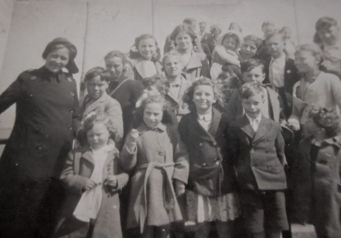 Salvation Army Group. Approx 1950.   Joan Sarfas