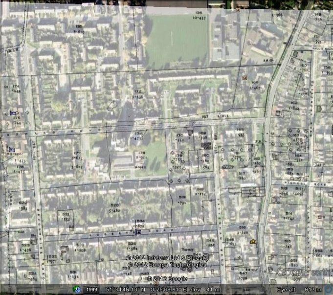 King Edward Estate | Ordinance Survey and Google Earth