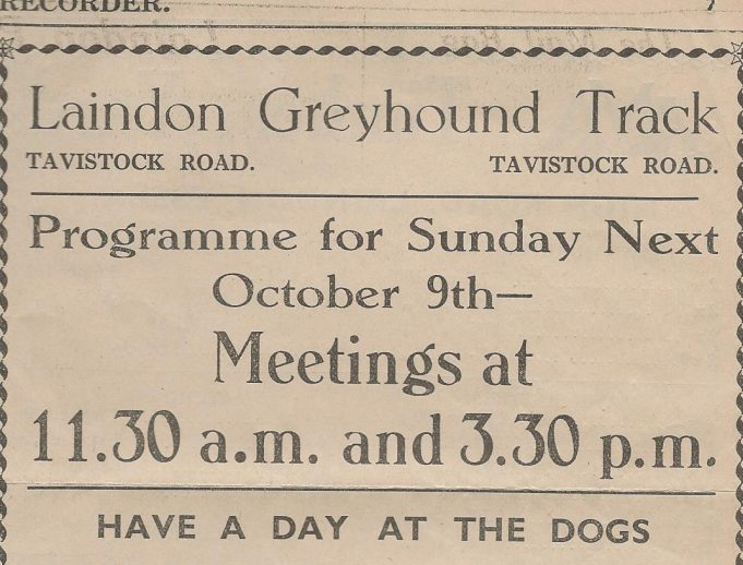 Laindon Greyhound Track