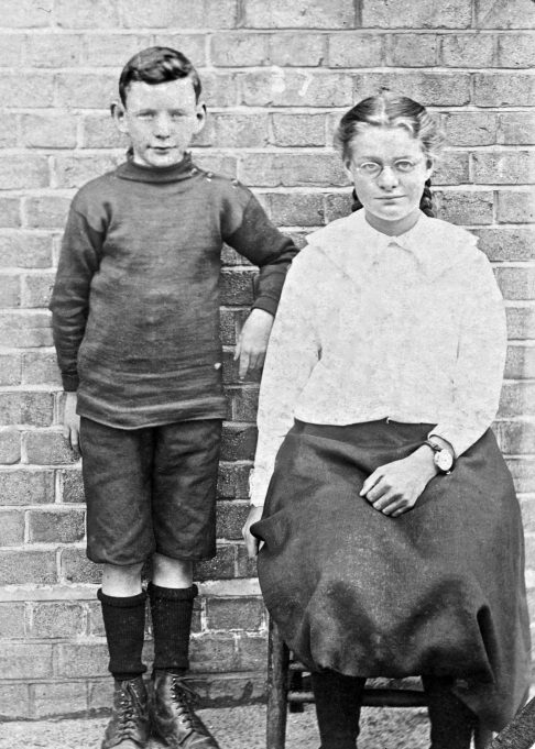 Philip and Freda - Laindon 1915.  (Philip wearing his football outfit). | Greg Wass.