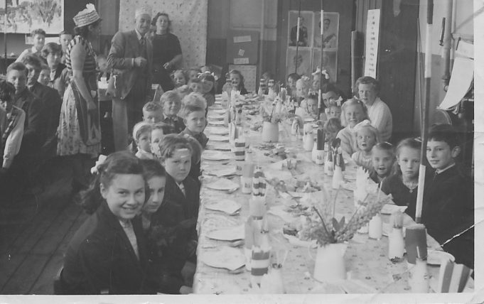 Coronation Tea Laindon Park School 1953 | Val Scurlock nèe Newman