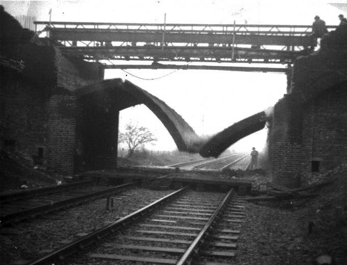 Demolition of bridge arch (Click on imaged to enlarge - use arrows and cross at bottom of image to navigate) | Paul Sargeant