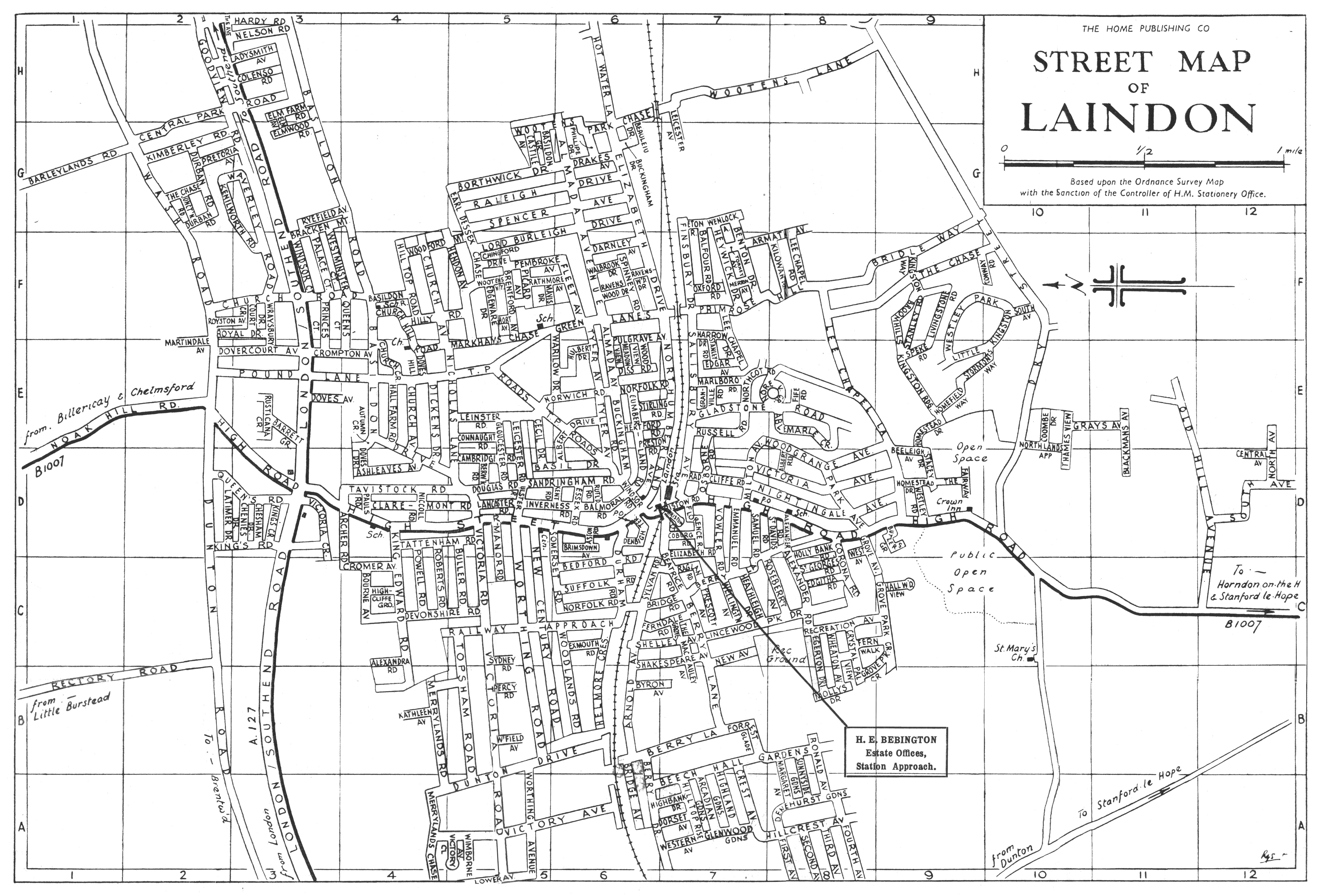 Laindon Map Laindon Laindon District Community Archive