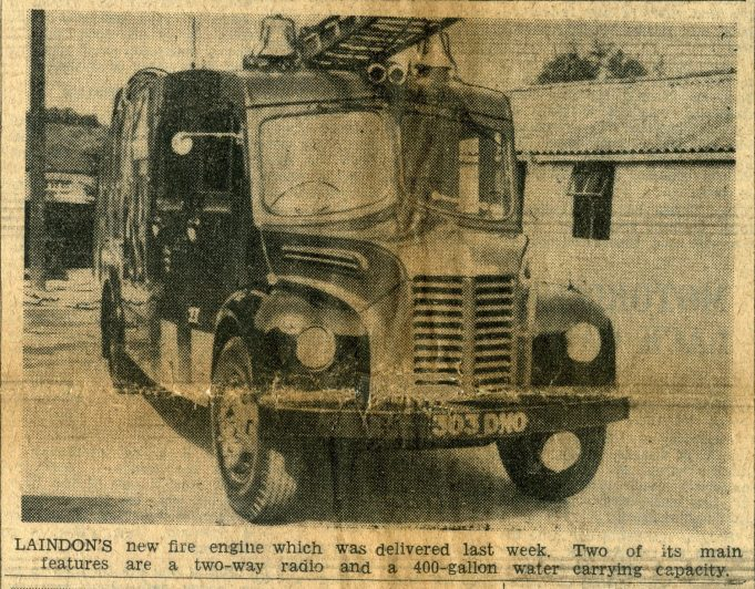 Laindon Fire Station | Recorder - August 1955