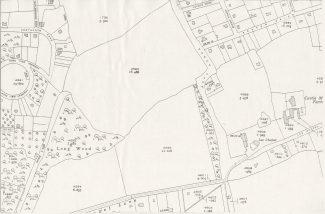 1949 BDC survey map showing the location of Lee Chapel Farm and Castlemaine Farm. | BDC - Ordnance Survey
