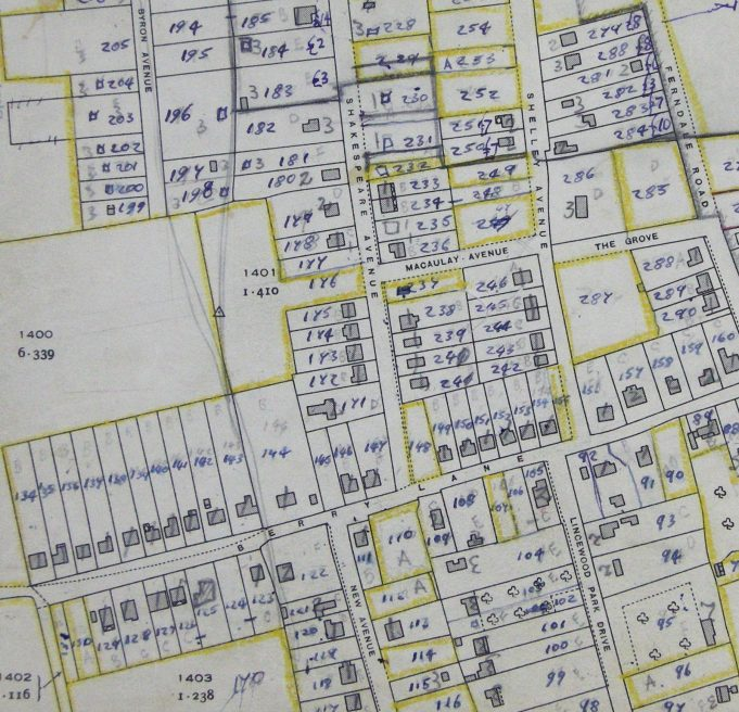 BDC 1949 property survey | BDC Ordnance Survey