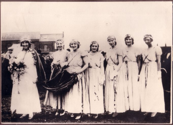 Carnival Queen Edna Gibbons and her Court 1932.