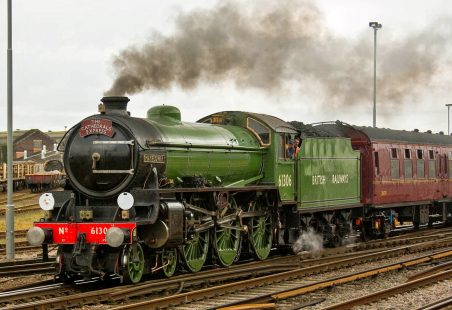 Steam Train at Laindon Station 7th March 2015.