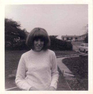 Me on the new path  leading to Bourne Close 1966 | Nina Humphrey