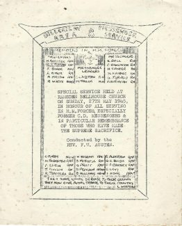 Order of Service-27th May 1945