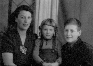 Me with my mum Jessica and brother Dennis 1943 | Anne Burton
