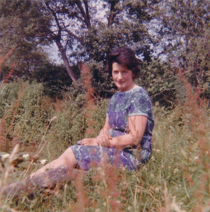 15.  My favourite photo of my mum Jessica Burton, sitting by the pond. | Nina Humphrey