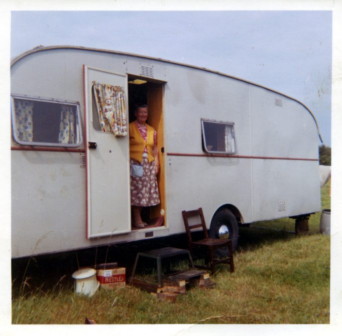 My nan Jessica Devine and her caravan home 1965. | Nina Humphrey