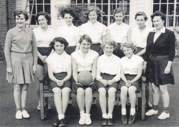 Netball Team from Laindon High Road School in the late 1950's