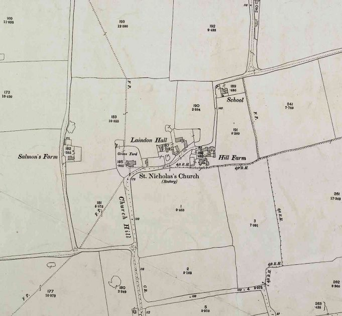 Church Hill and Laindon Hall. | Ordnance Survey