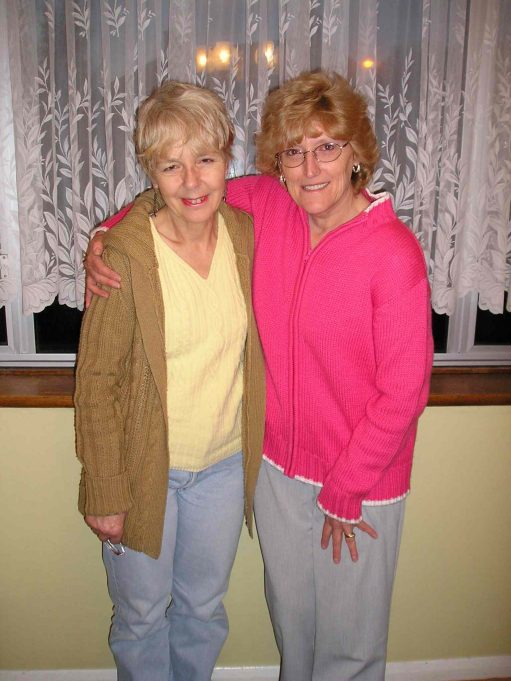 Janet Ellis (née Gipson) and Nina Humphrey (née Burton) taken in 2006.  Still friends after all those years. | Nina Humphrey(née Burton)