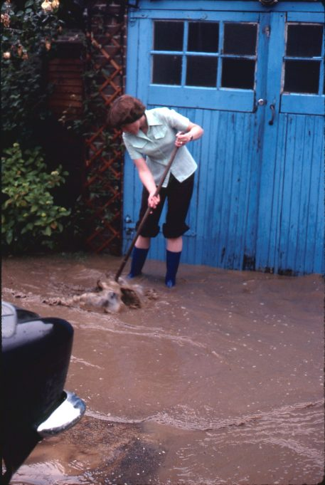 Ankle deep infront of the garage. | Colin Humphrey