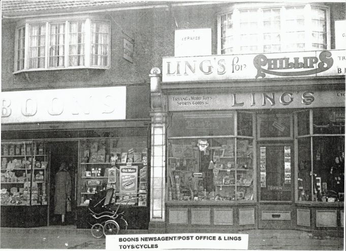 Boon's confectioners and Ling's toys and bike shop.
