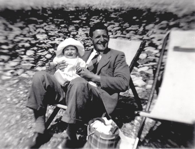 8.  My Dad and little brother Alan on Southend beach 1952 | Nina Humphrey
