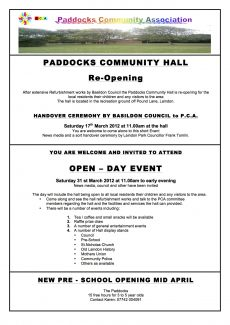 Paddocks Community Hall