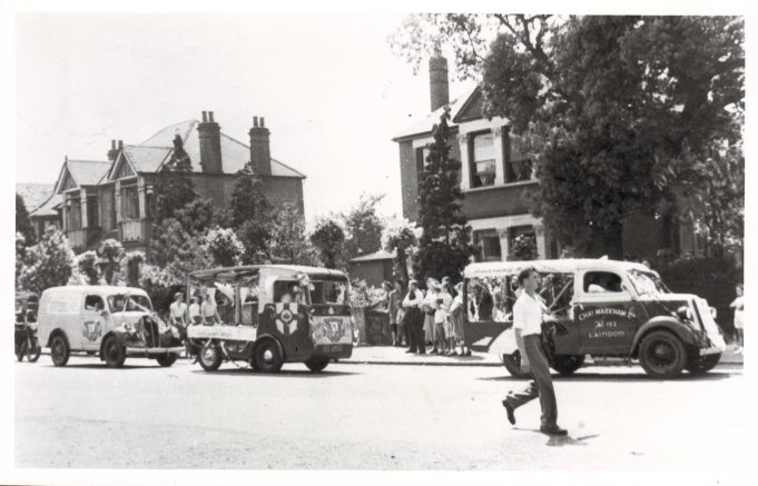 Laindon Carnival passing 'Rosemary', Dr Shannon's house, in High Road, Langdon Hills.