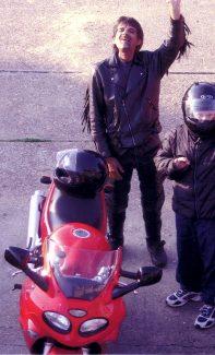 One very happy biker - Paul Burton 2005.