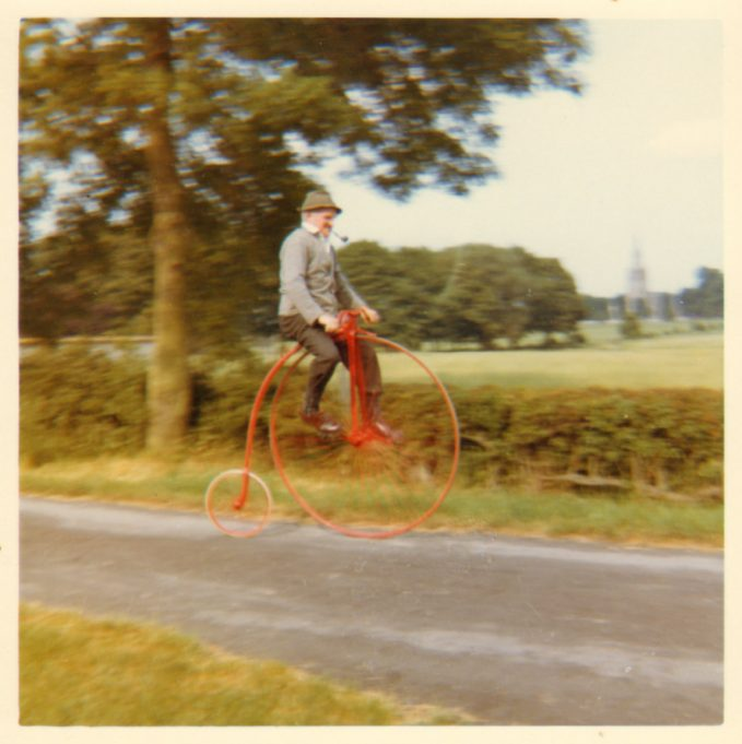 Bertie Peters in action on his Penny-farthing. | Anne Burton