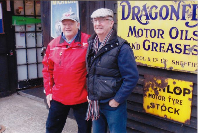 Peter & Brian outside the Battlesbridge Motorcycle Museum | Peter Robertson