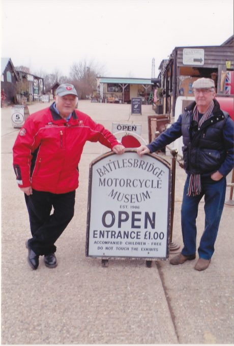 Peter & Brian outside the Battlesbridge Motorcycle Museum | Peter Robinson