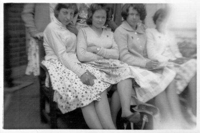 From left.  Janet Barratt, Jennifer Garrity, Christine Harrison, Irene Peall. | Nina Humphrey(née Burton)