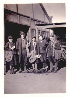 My Mother (Annie Higgs) is the first on the left in her funny Boots