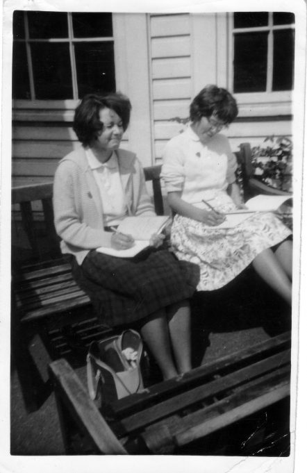 Christine Harrison and Irene Peall (Head Girl). | Nina Humphrey(née Burton)
