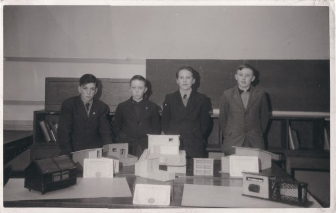 Laindon High Road School. My brother Robin Dutnall, second from left won third prize in a competition set by the 'Smallholder' magazine. (unsure of date). | Judith Howgego (née Dutnall)