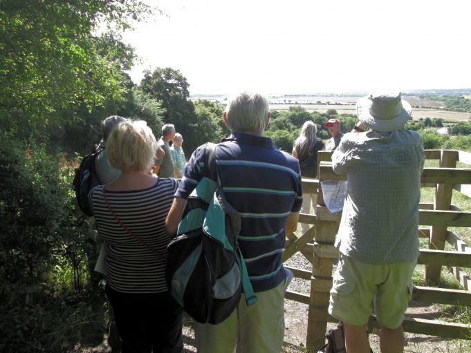 Admiring the view of the London skyline from Dunton Ridge. | Nina Humphrey(née Burton)